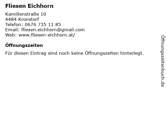 Fliesen Eichhorn in Kronstorf: Adresse und Öffnungszeiten