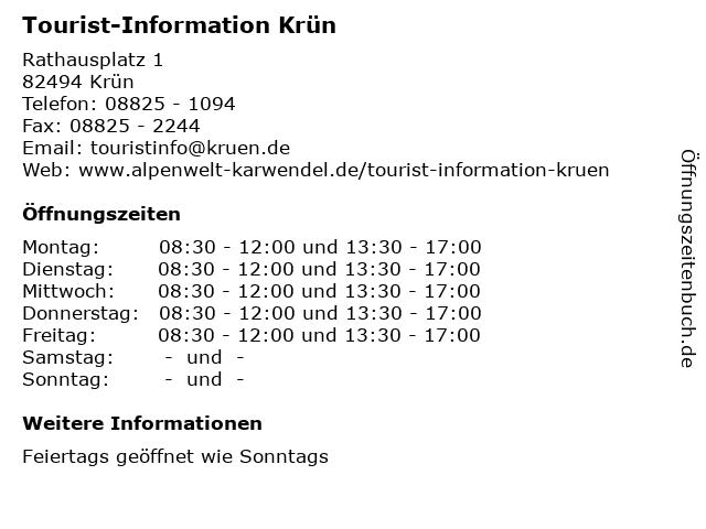 Tourist-Information Krün in Krün: Adresse und Öffnungszeiten