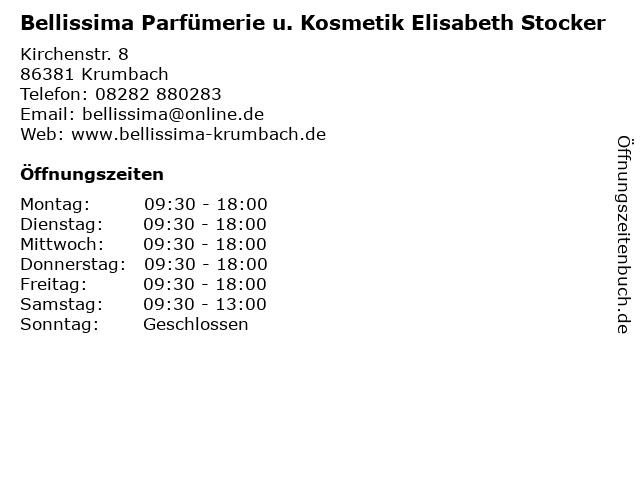 Bellissima Parfümerie u. Kosmetik Elisabeth Stocker in Krumbach: Adresse und Öffnungszeiten