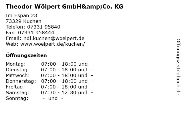 Theodor Wölpert GmbH&Co. KG ( März-Oktober ) in Kuchen: Adresse und Öffnungszeiten