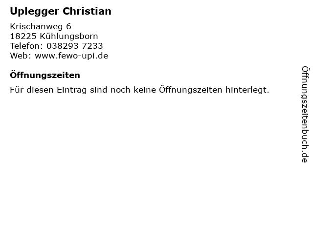 Uplegger Christian in Kühlungsborn: Adresse und Öffnungszeiten