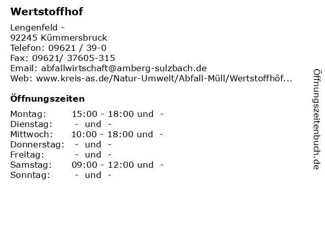 Wertstoffhof Kümmersbruck