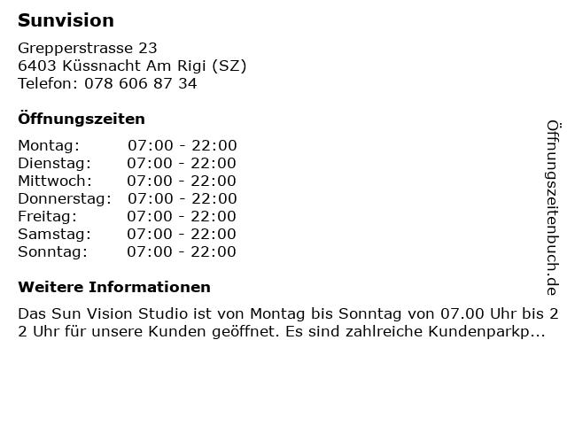 Sunvision in Küssnacht Am Rigi (SZ): Adresse und Öffnungszeiten