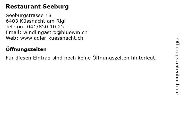 Restaurant Seeburg in Küssnacht am Rigi: Adresse und Öffnungszeiten