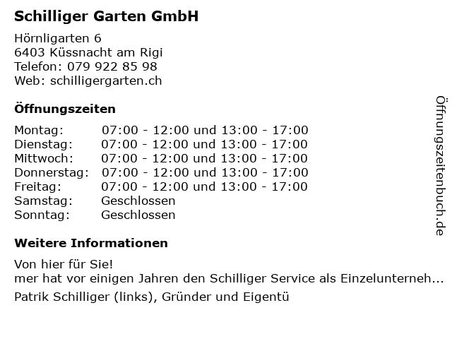 Schilliger Garten GmbH in Küssnacht: Adresse und Öffnungszeiten
