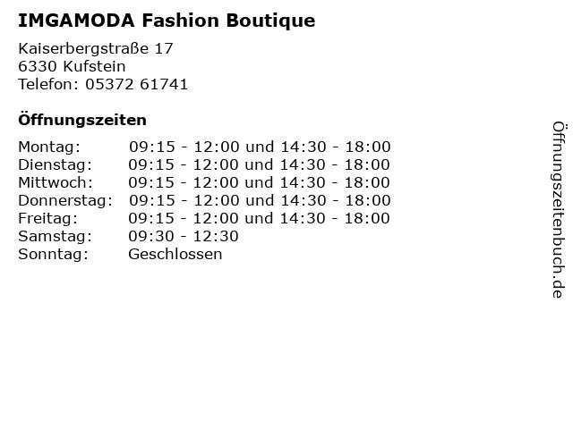 IMGAMODA Fashion Boutique in Kufstein: Adresse und Öffnungszeiten