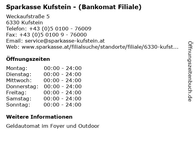 Sparkasse Kufstein - (Bankomat Filiale) in Kufstein: Adresse und Öffnungszeiten