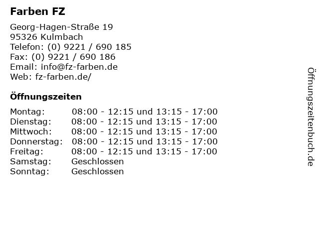 Farben FZ in Kulmbach: Adresse und Öffnungszeiten