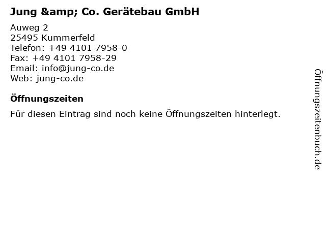 Jung & Co. Gerätebau GmbH in Kummerfeld: Adresse und Öffnungszeiten
