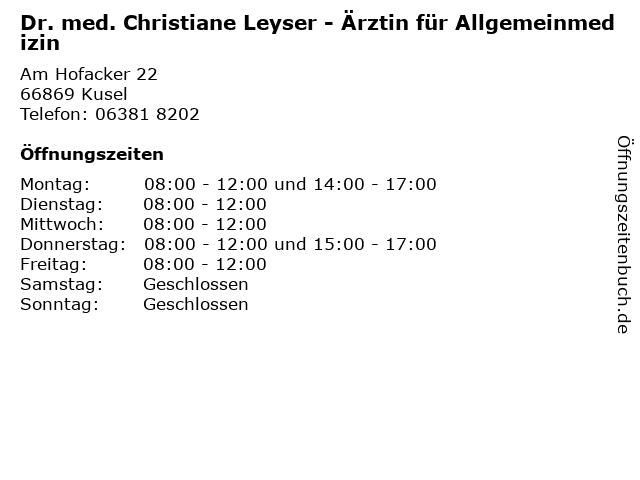 Dr Leyser Kusel
