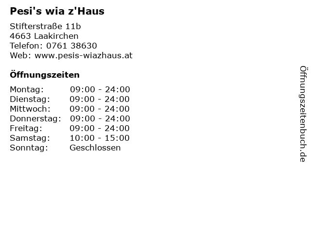 Pesi's wia z'Haus in Laakirchen: Adresse und Öffnungszeiten