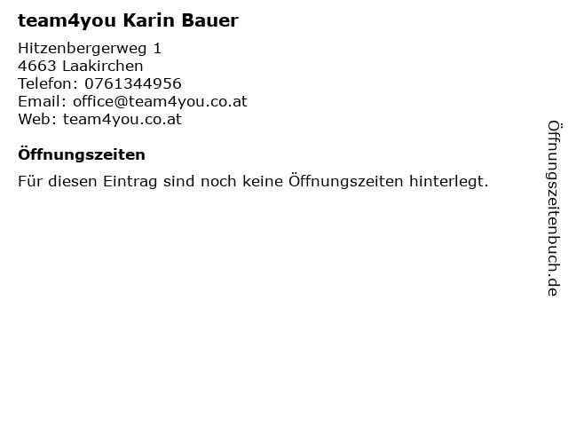 team4you Karin Bauer in Laakirchen: Adresse und Öffnungszeiten