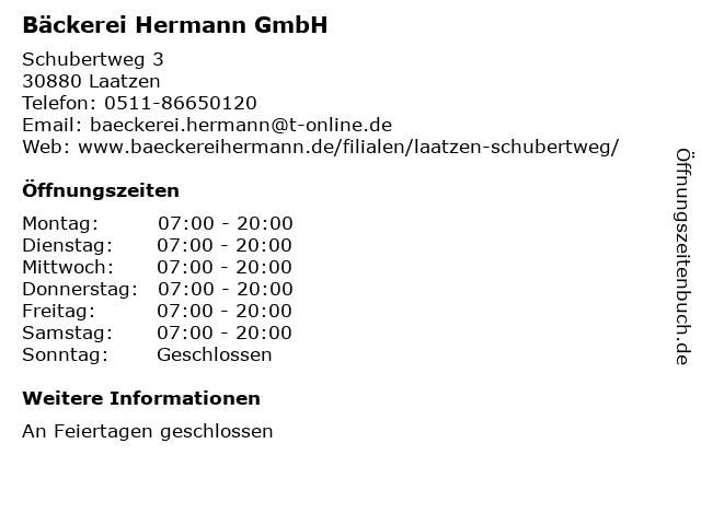 Bäckerei Hermann GmbH in Laatzen: Adresse und Öffnungszeiten
