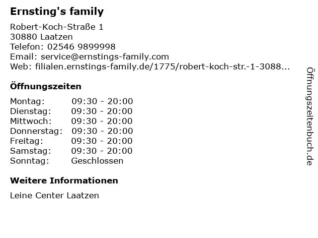 Ernsting's family GmbH & Co. KG in Laatzen: Adresse und Öffnungszeiten