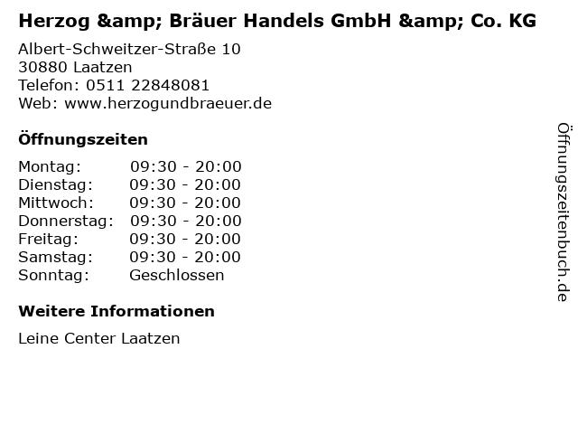 Herzog & Bräuer Handels GmbH & Co. KG in Laatzen: Adresse und Öffnungszeiten