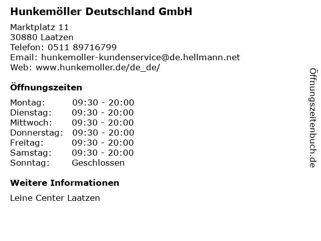 Hunkemöller Deutschland GmbH in Laatzen: Adresse und Öffnungszeiten