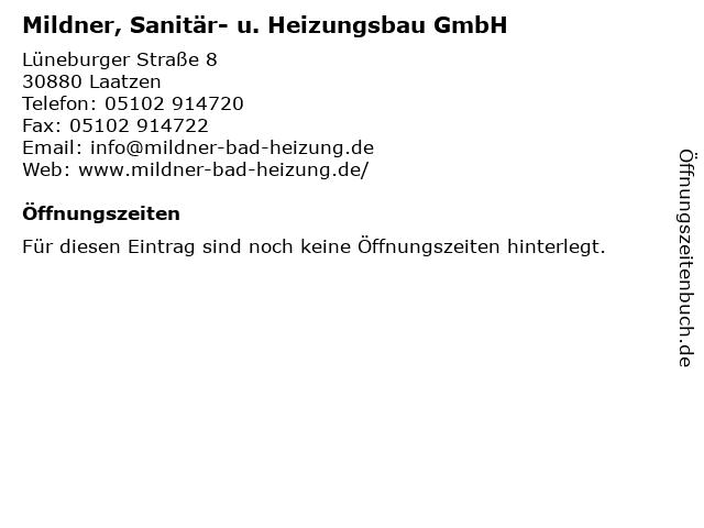 Mildner, Sanitär- u. Heizungsbau GmbH in Laatzen: Adresse und Öffnungszeiten