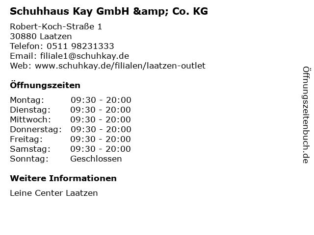 Schuhhaus Kay GmbH & Co. KG in Laatzen: Adresse und Öffnungszeiten