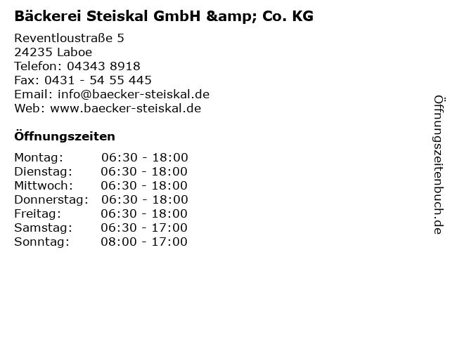 Bäckerei Steiskal GmbH & Co. KG in Laboe: Adresse und Öffnungszeiten