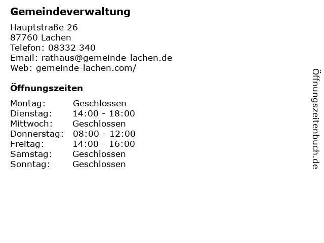 Gemeinde Lachen - Gemeindeverwaltung in Lachen: Adresse und Öffnungszeiten