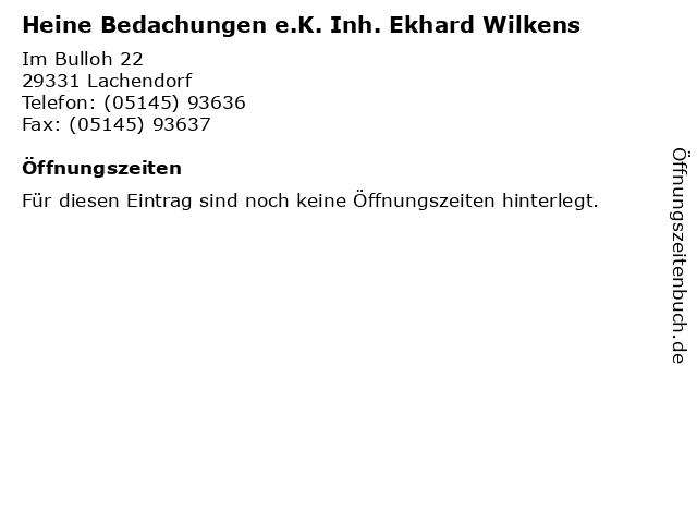 "new list beauty so cheap ᐅ Öffnungszeiten ""Heine Bedachungen e.K. Inh. Ekhard ..."