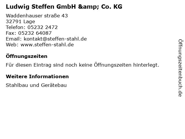 Ludwig Steffen GmbH & Co. KG in Lage: Adresse und Öffnungszeiten