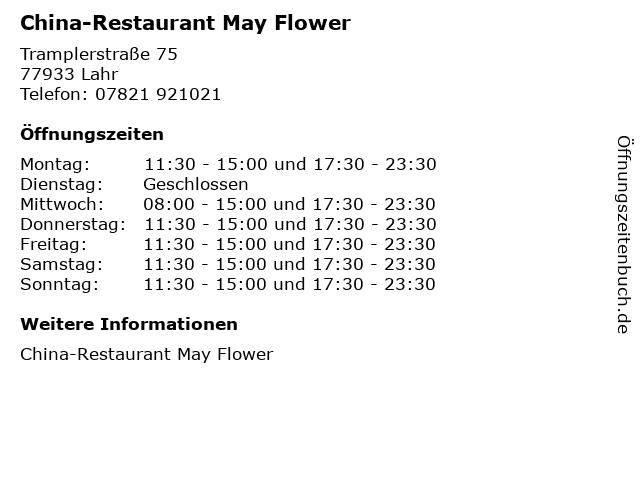 China-Restaurant May Flower in Lahr: Adresse und Öffnungszeiten