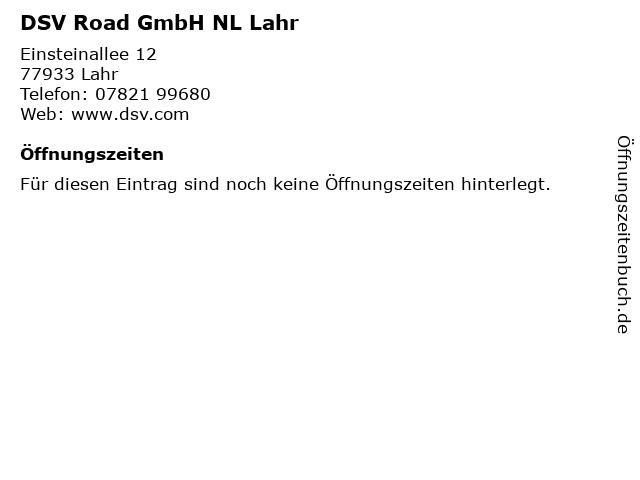 DSV Road GmbH NL Lahr in Lahr: Adresse und Öffnungszeiten
