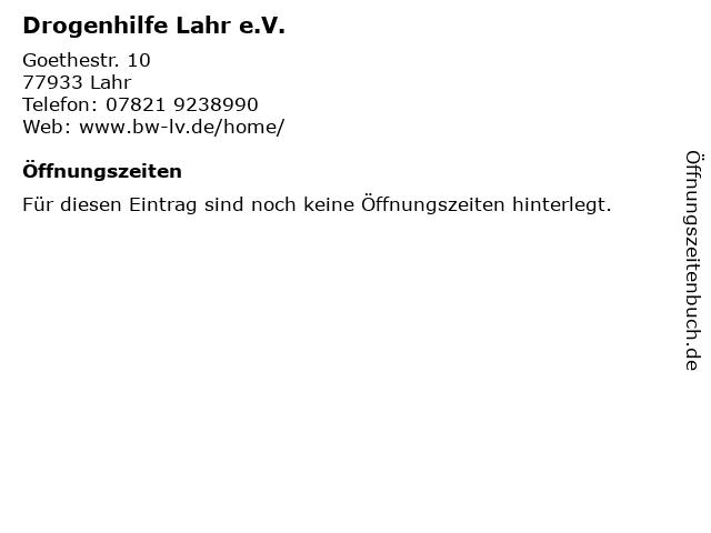 Drogenhilfe Lahr e.V. in Lahr: Adresse und Öffnungszeiten