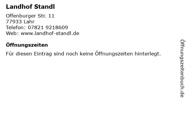 Landhof Standl in Lahr: Adresse und Öffnungszeiten