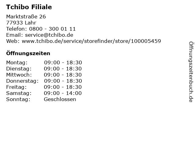 Tchibo Filiale in Lahr: Adresse und Öffnungszeiten