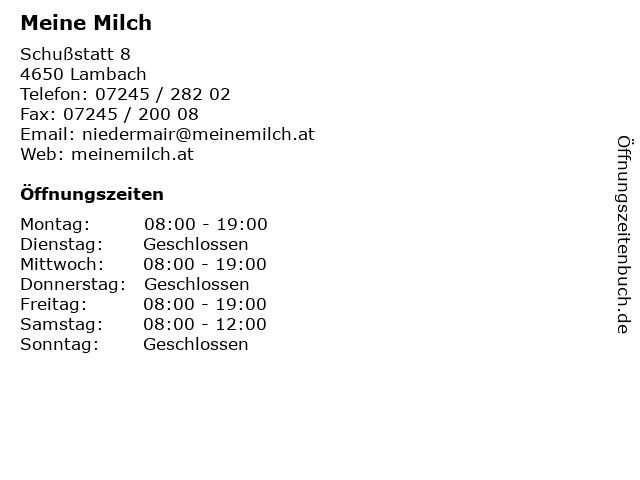 Meine Milch in Lambach: Adresse und Öffnungszeiten