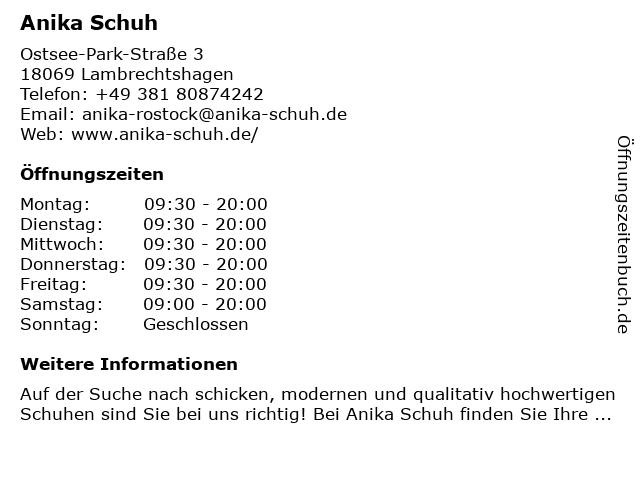 Anika Schuh in Lambrechtshagen: Adresse und Öffnungszeiten