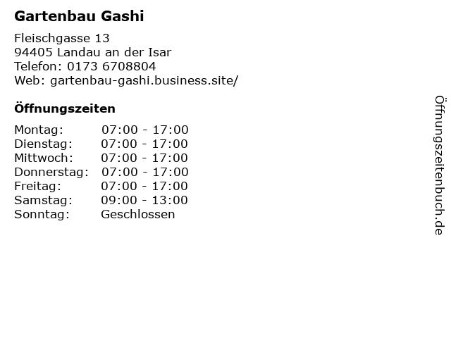 Gartenbau Gashi in Landau an der Isar: Adresse und Öffnungszeiten