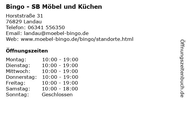 ᐅ öffnungszeiten Bingo Sb Möbel Und Küchen Horststraße 31 In
