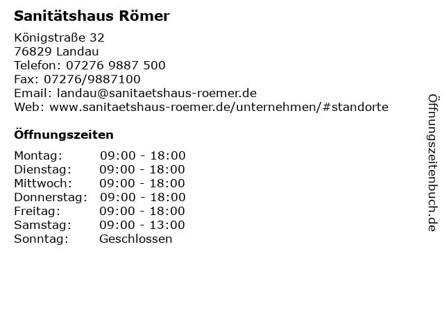 Sanitätshaus Römer in Landau: Adresse und Öffnungszeiten