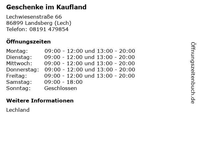 Geschenke im Kaufland in Landsberg (Lech): Adresse und Öffnungszeiten