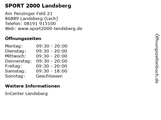 SPORT 2000 Landsberg in Landsberg (Lech): Adresse und Öffnungszeiten