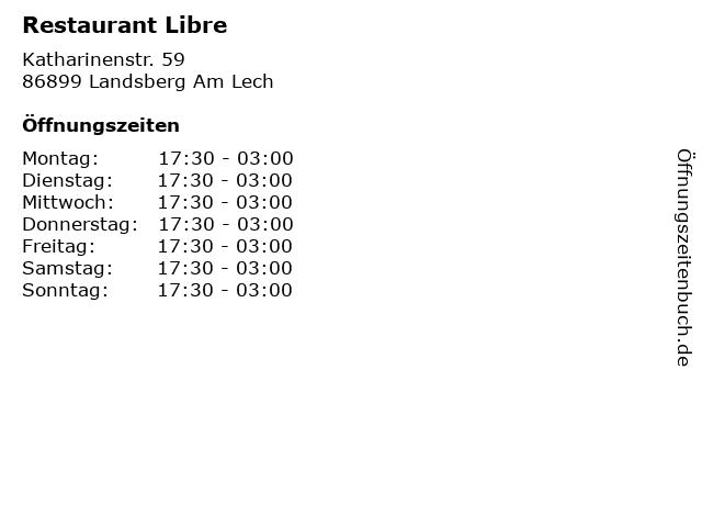 Restaurant Libre in Landsberg Am Lech: Adresse und Öffnungszeiten