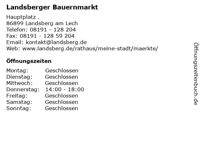 Landsberger Bauernmarkt in Landsberg am Lech: Adresse und Öffnungszeiten