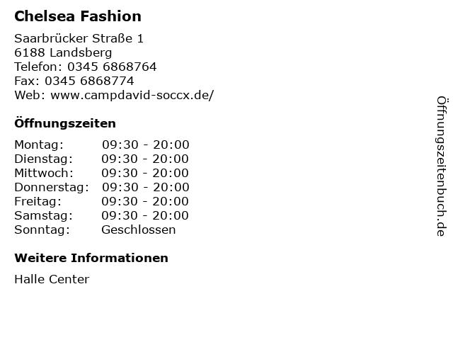 Chelsea Fashion in Landsberg: Adresse und Öffnungszeiten
