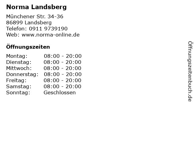 Norma Landsberg in Landsberg: Adresse und Öffnungszeiten