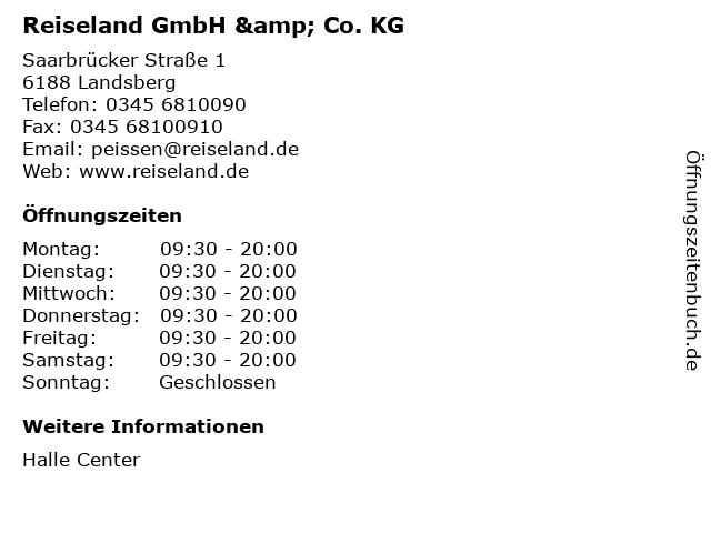 Reiseland GmbH & Co. KG in Landsberg: Adresse und Öffnungszeiten