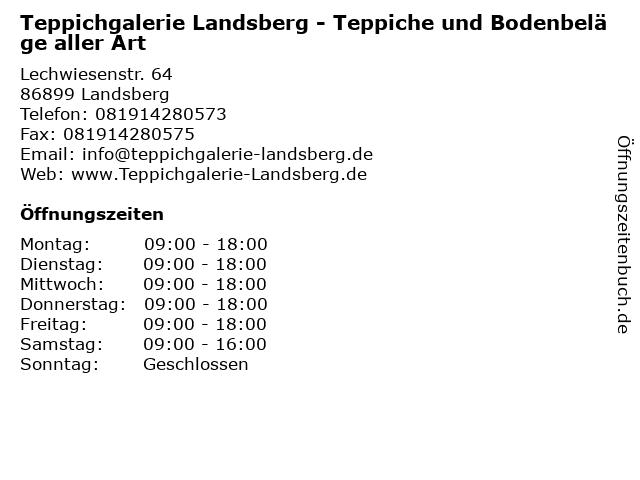 Teppichgalerie Landsberg - Teppiche und Bodenbeläge aller Art in Landsberg: Adresse und Öffnungszeiten