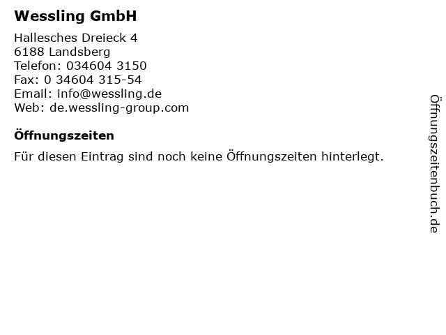 Wessling GmbH in Landsberg: Adresse und Öffnungszeiten