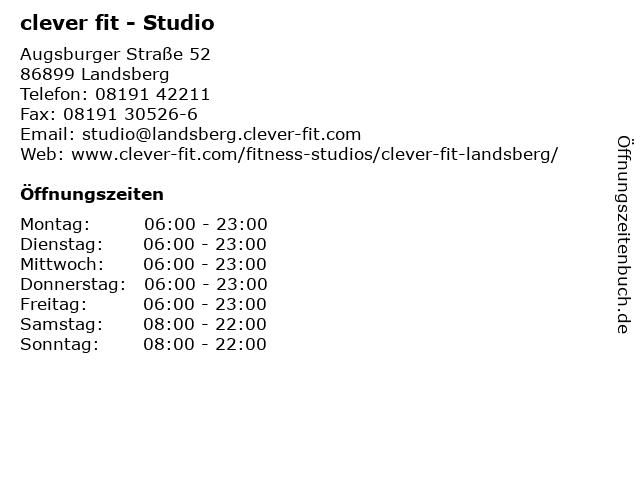 clever fit - Studio in Landsberg: Adresse und Öffnungszeiten