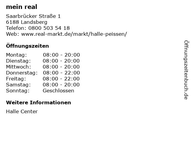 real,- SB-Warenhaus GmbH in Landsberg: Adresse und Öffnungszeiten