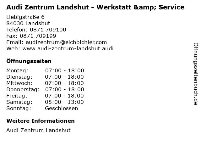 Audi Zentrum Landshut - Werkstatt & Service in Landshut: Adresse und Öffnungszeiten