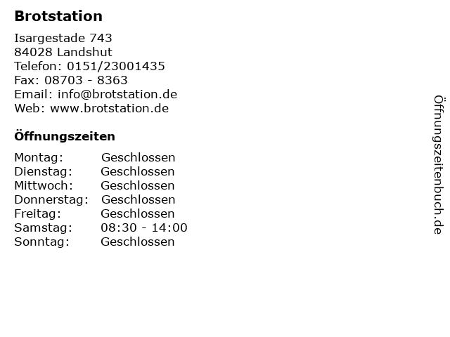 Brotstation in Landshut: Adresse und Öffnungszeiten