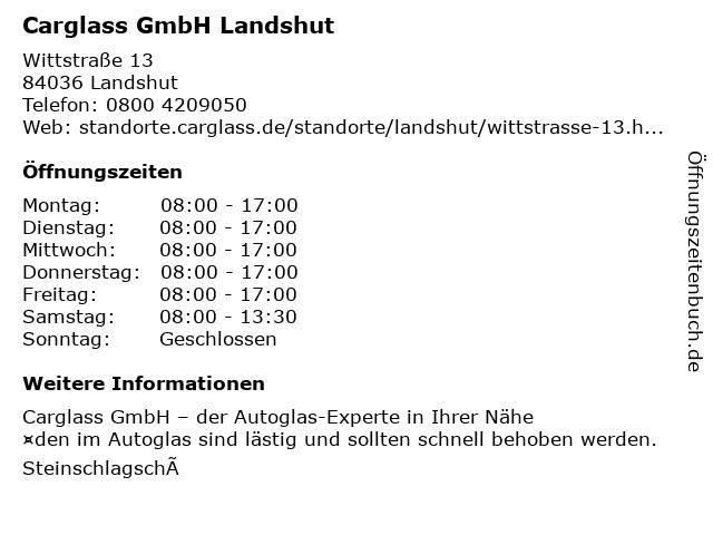 Carglass GmbH Landshut in Landshut: Adresse und Öffnungszeiten